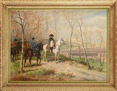 Napoléon Ier et son officier d'ordonnance, lors de la bataille d'Iéna by Raymond Desvarreux-Larpenteur