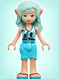 LEGO Elves: Naida the Water Elf Minidoll. Currently included in two sets (1) Naida's Epic Adventure Ship & (2) Naida's Spa Secret.  Naida will also be included in the giant 808-pc Elves set, Skyra's Mysterious Sky Castle, due to release later in 2015