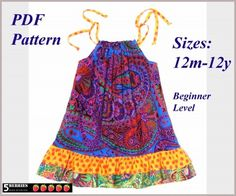 Maria Pillowcase Dress PATTERN + Free Mother-Daughter Apron Pattern, PDF Sewing Patterns for children, Girls Dress Patterns, baby, toddler Sewing Patterns For Kids, Sewing For Kids, Free Sewing, Easy Patterns, Baby Sewing, Sewing Ideas, Simple Dress Pattern, Dress Patterns, Pillowcase Dress Pattern