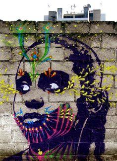 A mural by StinkFish in Guatemala City, Guatemala Amazing Street Art, Best Street Art, Amazing Art, Awesome, Banksy, Pop Art, Atelier D Art, Stencil Art, Art Graphique