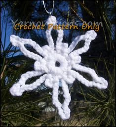 free crochet snowflake patterns - Google Search