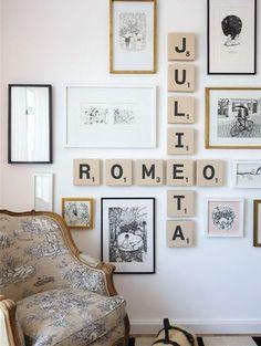 Un mur de cadre original et romantique