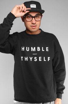 Adapt Advancers — Humble Thyself (Men's Black Crewneck Sweatshirt)