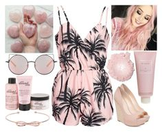 """""""Pink love"""" by musicmelody1 on Polyvore featuring NLY Trend, Jessica Simpson, Matthew Williamson, Isis, Chantecaille, philosophy and Ted Baker"""