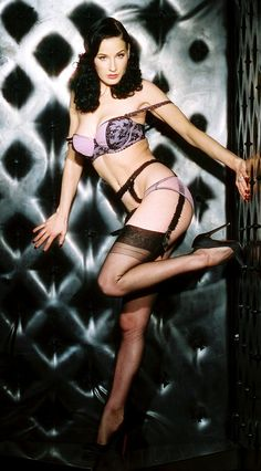 Dita Von Teese and her Secrets In Lace Stockings