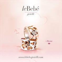 Un prezioso emblema dedicato alle mamme. :) I Divini di leBebé, romantici anelli a doppia lastra con cuori traforati e una silhouette in pavé di brillanti.  http://www.lebebegioielli.com #fieradiesseremamma #lebebé #gioielli #mamme #anelli #divini