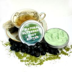 Matcha Blueberry  Whipped Shea Body Butter by soapopotamus on Etsy