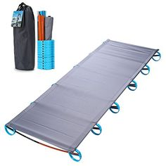 Yahill Ultralight Folding Bed Portable Cot, or Tent Bed R...