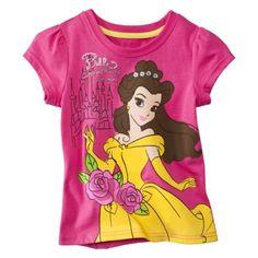 Disney® Belle Infant Toddler Girls Short-sleeve Tee - Pink