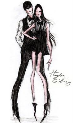 Hayden Williams Fashion Illustrations: Hayden Williams - Tux Luxe