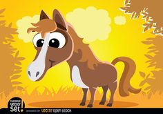 It's a cool vector to use in stories for children, or as a mascot in products, and more. Under Commons Attribution License. Free Vector Graphics, Vector Art, Farm Animals, Cute Animals, Horse Cartoon, Baby Horses, Stories For Kids, Cartoon Styles, Disney Characters
