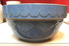Large Blue Crock Pottery Mixing or Batter by MarksVivaLaVintage, $35.00 This bowl is a genuine antique and NOT a reproduction like so many people are selling today.