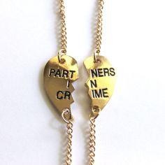 2pcs Partners in Crime Friendship Bracelet Anklet Gold Tone Best Friend Couple #Unbranded #Friendship