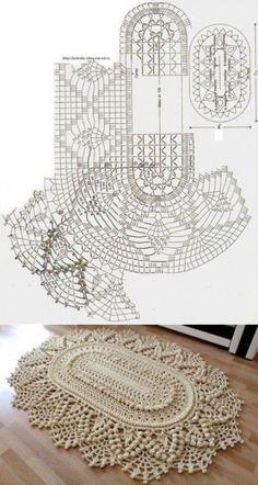 New Ideas Crochet Flowers Rug Patterns Crochet - Diy Crafts Crochet Doily Rug, Crochet Carpet, Crochet Mandala Pattern, Crochet Doily Patterns, Crochet Tablecloth, Crochet Flowers, Diy Crafts Crochet, Crochet Home, Free Crochet