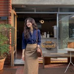 Korean Casual Outfits, Modest Outfits, Cute Casual Outfits, Simple Outfits, Pretty Outfits, Korean Fashion Dress, Ulzzang Fashion, Modest Fashion, Fashion Outfits