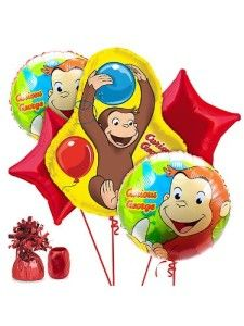 Celebrate with the Curious George Shaped Foil Balloon for your Curious George party. Find amazing selections and prices on all birthday party decorations & supplies at Birthday in a Box. Monkey Birthday, Baby 1st Birthday, 3rd Birthday Parties, Birthday Ideas, Birthday Stuff, Birthday Bash, Curious George Party, Curious George Birthday, Birthday Balloon Decorations