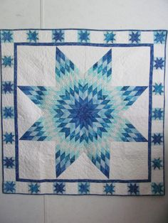 Bethlehem Star, Lone Star, Radiating Star Quilted Wall hanging by…