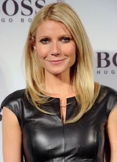 Celebrity style - gwyneth paltrow - black leather dress.jpg