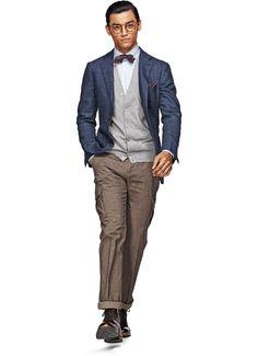 Jacket Blue Plain Havana C689 | Suitsupply Online Store