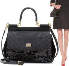 Dolce & Gabbana Sequin and Jacquard Sicily Bag