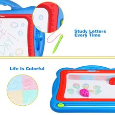 Notebooks & Writing Pads 100% Quality 1pcs Children Doodle Stencil Writing Painting Magnetic Drawing Board Set For Kids Learning & Education Toys Hobbies