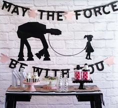 Pink and Sparkly Star Wars Party | CatchMyParty.com