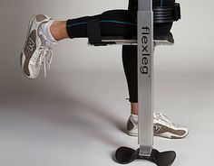A chance glance at a poster of a runner with a prosthetic leg sparked a product development idea that resulted in a new business for a mechanical engineering grad student.