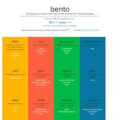 Bento - Web Development Tutorials for Pretty Much Every Language