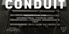 ITC Conduit® - Webfont & Desktop font « MyFonts