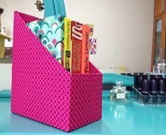 DIY: Caixa para guardar livros, cadernos ou revistas!