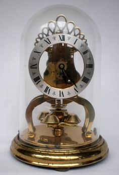 VINTAGE Ca 1950s SCHATZ GERMANY DOME ROTATING PENDULUM 400 DAY ANNIVERSARY CLOCK