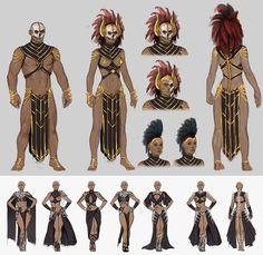 ArtStation - Conan Exiles costume concept art, Jenni Lambertsson