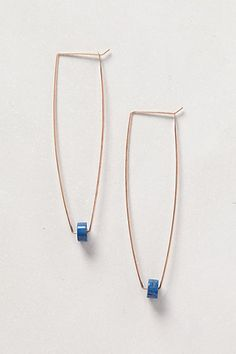 Trapeze Hoops - Can't believe these sell for $68 at Anthropologie.  Going to make them for pennies!