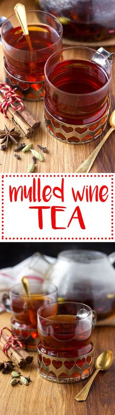 Mulled wine flavoured tea! A great non-alcoholic alternative for the holidays!