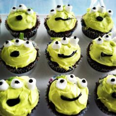 Toy Story Alien Cupcakes - Toddler Birthday Party.. but I will make them look better  lol