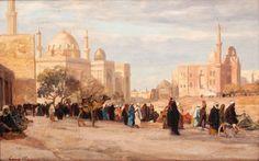 Georg MACCO (1863-1933) Tombeaux des Califes au Caire Huile sur toile, signée en bas à gauche. 33 x 52 cm - Gros & Delettrez - 20/11/2015