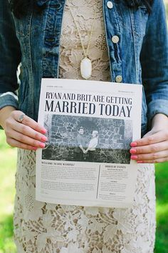 Personalized wedding magazine
