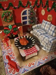 I love winter and the thing that strikes me most is the silence. The cold, the wind and th. Christmas Crafts, Christmas Tree, I Love Winter, Winter Project, Miniature Houses, Miniatures, Cold, Holiday Decor, Projects