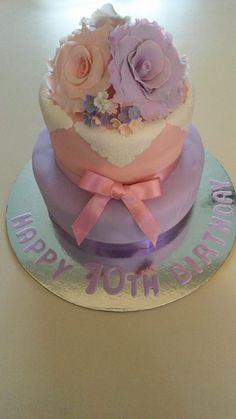 70th Birthday cake 70th Birthday Cake, Cake Creations, Desserts, Food, Tailgate Desserts, Deserts, Essen, Postres, Meals