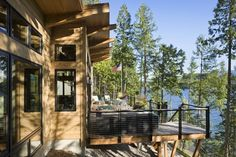 """More photos for the Montana lakeside cabin featured in """"A Little Cabin Soars with Incredible views."""" - Cabin Life Magazine"""