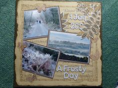 A frosty walk using Graphic 45 papers and a white pen. White Pen, Graphic 45, Scrapbook Pages, Paper, Art, Art Background, Kunst, Performing Arts, Smash Book Pages
