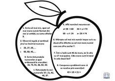 Recapitularea cunoștințelor din clasa I. Mărul First Grade, Grade 1, Math School, Math Problems, Math For Kids, School Lessons, After School, Education Quotes, Homeschool
