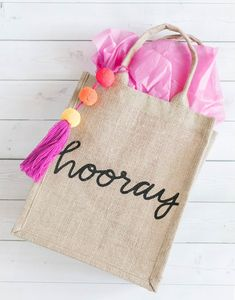 Add this purple, tangerine, and neon pink pom pom tassel to your favorite bag. Each purchase supports artisans working with Macvilho in Mexico. Favor Bags, Gift Bags, Jute Bags, Handmade Bags, Handmade Items, Gifts For Teens, Best Friend Gifts, Boyfriend Gifts, Burlap