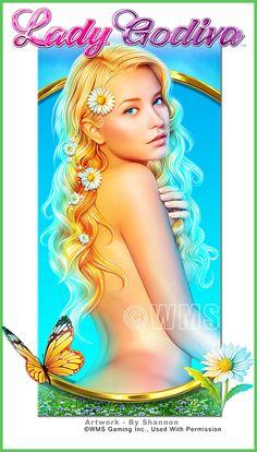 Shannon Maer - Casino Video Slot Game Development - Theme Artwork - Balance GFX - Gallery - ladygodiva_symbol.jpg
