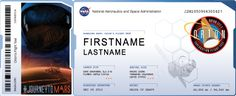 I just sent my name to fly on Orion's flight test, scheduled to launch Dec. 4 - 6, 2014! Orion is NASA's new spacecraft that will carry humans into deep space.  View My Boarding Pass: http://mars.nasa.gov/participate/send-your-name/orion-first-flight/?cn=696648 Get Your Own Boarding Pass On NASA's #JourneyToMars ! Send your name here: http://go.usa.gov/vcpz