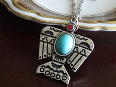 Phoenix Bird Necklace Vintage Style Silver by PeculiarCollective