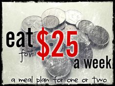happy life.: Eating on $25 a week: You can!