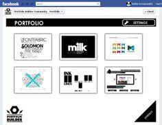 Facebook Portfolio Builder App by Bobby, via Behance