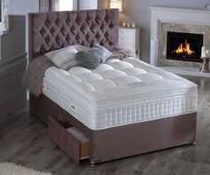 This Divan Bed feature generous layers of natural materials, Wool, Silk, Cashmere and Cotton. The mattress is then covered with the finest Belgian Damask to provide an exquisite, soft and silky sleep surface.  Save Upto 80% Off + 5% Off **Free Delivery Mainland England & wales Code: **SUMMER** at Checkout.  #ukfurnitureonline #furnituredirectuk #homestyle #bedroomideas #bedroominterior #bedroomstyling #bedroomview #bedset #premiumbedset #luxurybedroomset #divanbedset #durabeds… Damask Bedding, Bedding Sets, Furniture Direct, Online Furniture, Luxury Bedroom Sets, How To Dress A Bed, Luxury Chairs, Ottoman Bed, Minimalist Room