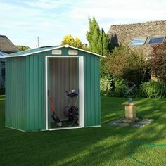 Backyard Shed Garden Shed Outdoor Storage Lawn Steel Roof Style Sheds for Tools * You can get additional details at the image link.-It is an affiliate link to Amazon.